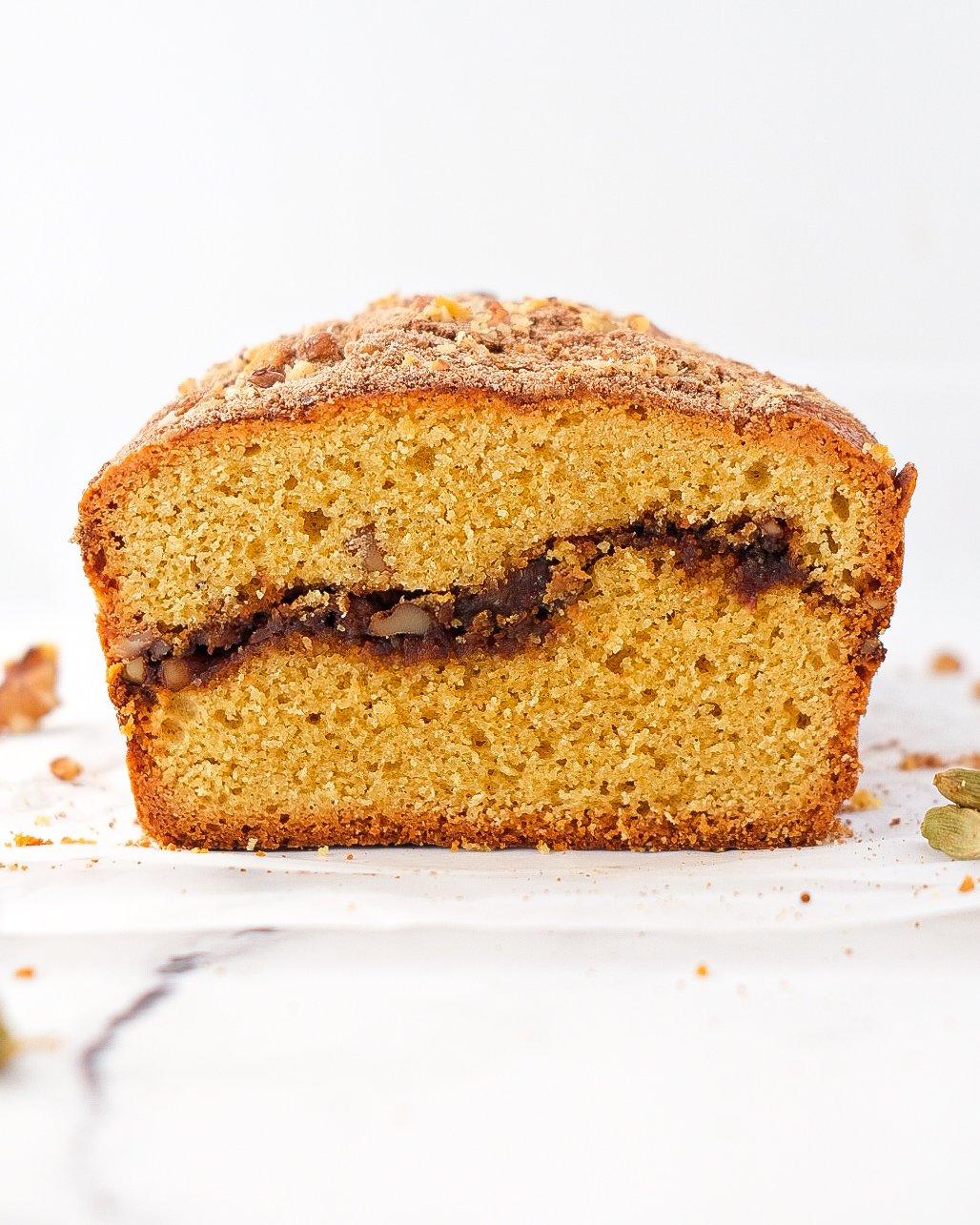 Walnut Cardamom Streusel Bread (paleo)