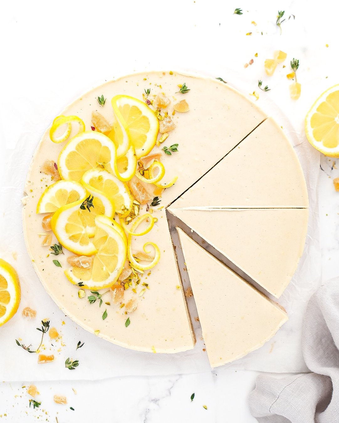 Lemon Ginger Cheesecake (vegan & paleo)